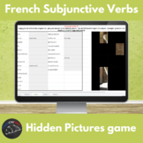 French subjunctive verbs - Hidden pictures game