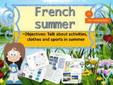 French summer activities sports clothes interactive activities