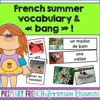 French summer flashcards/word wall/bang game