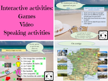 french summer holidays interactive activities ppt tpt. Black Bedroom Furniture Sets. Home Design Ideas