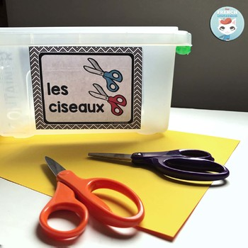 French supply labels MODERN CHEVRON