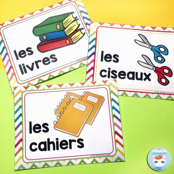 French supply labels RAINBOW CHEVRON