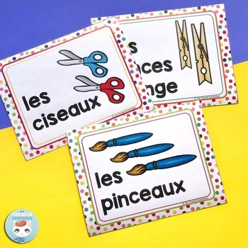 French supply labels RAINBOW DOTS