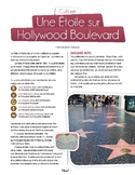 French text + activities + teacher's prep: Hollywood Boulevard