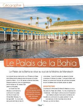 French text + activities + teacher's preparation: Bahia Palace