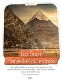 French text + activities + teachers prep: 7 Merveilles du monde