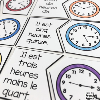 French time bundle ACTIVITÉS POUR L'HEURE