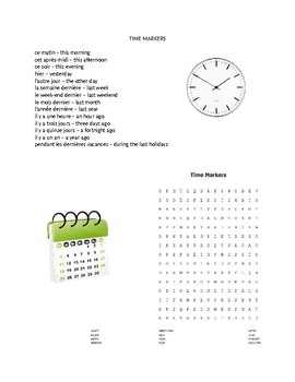 French time markers