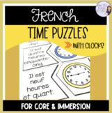 French time puzzles ACTIVITÉS POUR L'HEURE