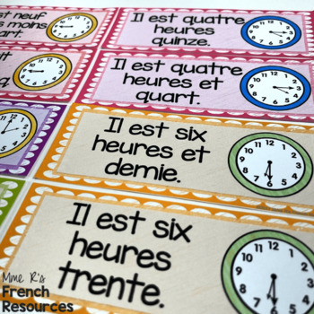 French time word wall MUR DE MOTS L'HEURE