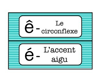 French timetable, Schedule cards with Alphabet and Calendar words - Blue Stripe