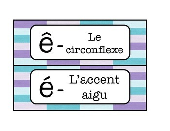 French timetable, Schedule cards with Alphabet and Calendar words - Pastels