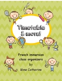 French timetable and more, Class organizers, menu du jour