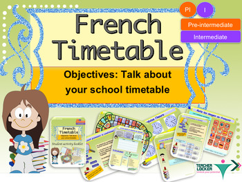 French timetable for pre-intermediate bundle NO PREP