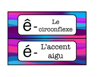 French timetable, schedule cards with alphabet and calendar words - SWIRL