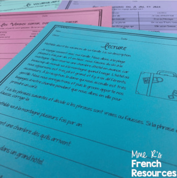 French travel speaking and writing LES VOYAGES