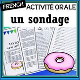 """French – """"un sondage""""/survey – Oral Speech Activity"""