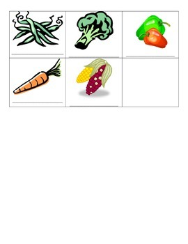 French vegetables vocabulary notes