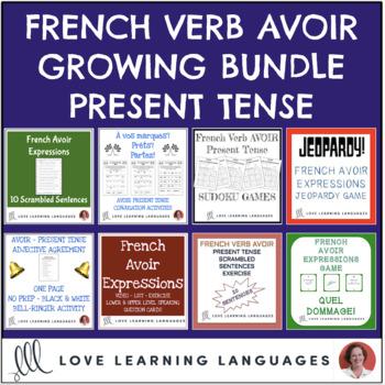 French Verb AVOIR Bundle