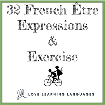 French verb ÊTRE expressions and exercise