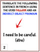 French verb FALLOIR - Present tense with indirect object pronouns