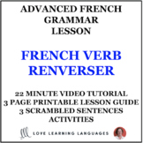 French verb RENVERSER:  10 intermediate - advanced ways to use this verb