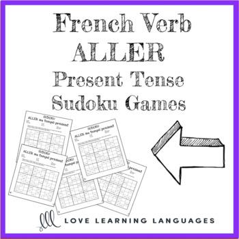 French verb aller present tense sudoku games - Le verbe aller au temps présent