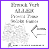 French verb aller present tense sudoku games - Le verbe al