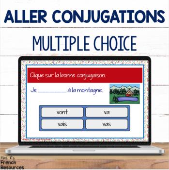 French verb aller task cards BOOM CARDS LE VERBE ALLER