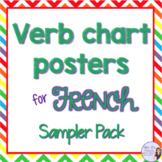 French verb chart posters sampler IRREGULAR VERBS
