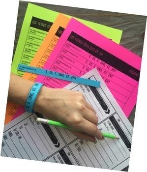 French verb endings conjugation bracelets