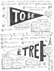 French verb être instant download PDF poster worksheet No prep French verbs