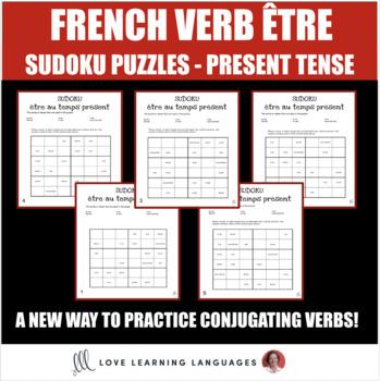 French verb être present tense sudoku games - Le verbe être au temps présent