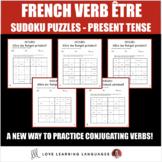 French verb être present tense sudoku games - Le verbe êtr