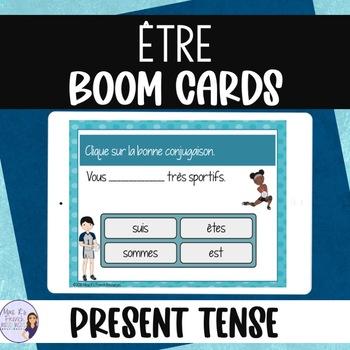 French verb être task cards BOOM CARDS LE VERBE ÊTRE
