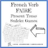French verb faire present tense sudoku games - Le verbe fa