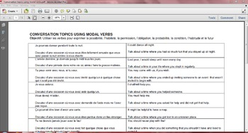 French verb tenses equivalent to English modal verbs