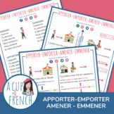 French verbs AMENER - EMMENER - APPORTER - EMPORTER