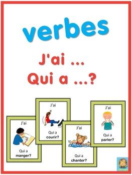 French verbs  J'ai ... Qui a ...? game