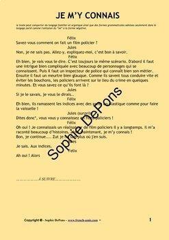French verbs - Savoir et Connaître - Bundle of 2 stories with exercises