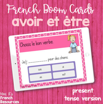 French verbs avoir and être task cards - Boom cards