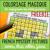 French verbs colour by code avoir, être, aller, faire