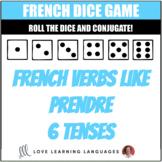 French verbs like PRENDRE - APPRENDRE - COMPRENDRE - Dice