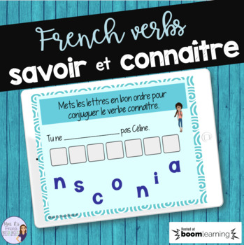 French verbs savoir and connaître BOOM CARDS French Distance Learning