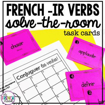 French verbs solve-the-room task cards- set 2 - ir verbs