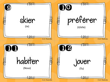 French verbs solve-the-room task cards - set 1 - er verbs
