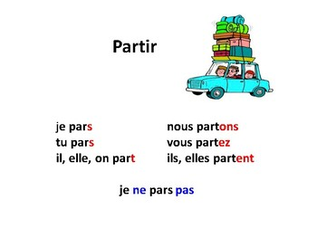 French verbs sortir, dormir, partir Discovering French Blanc