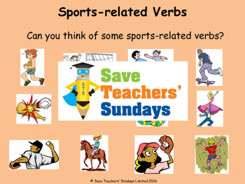 French verbs (sports) Lesson plan, PowerPoint (with audio) and More ...