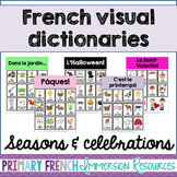 French visual dictionaries - Les dictionnaires visuels - Seasons & Celebrations