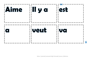 French vocab review game